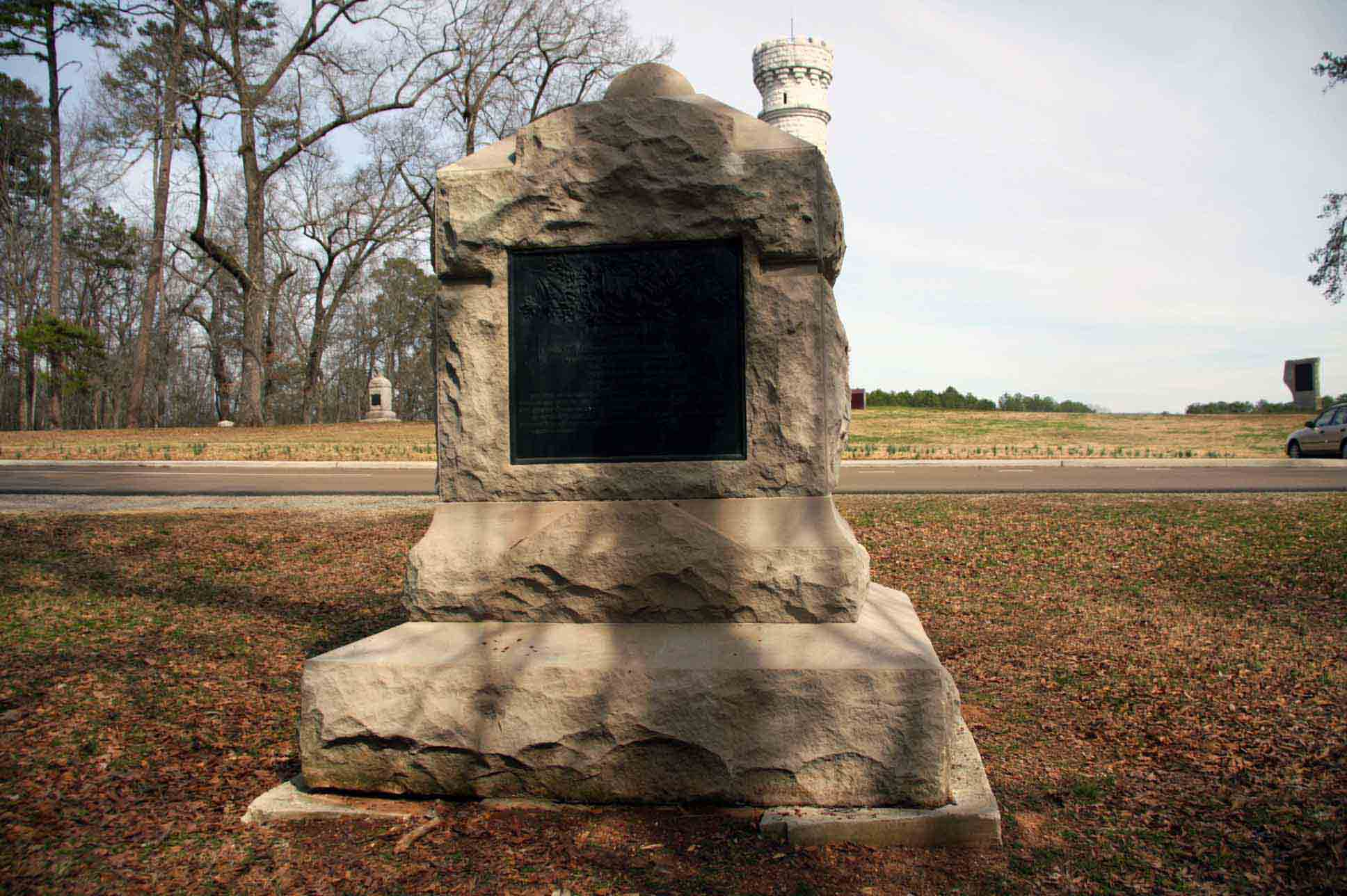 2nd Indiana Cavalry Regiment Monument, click photo to enlarge.