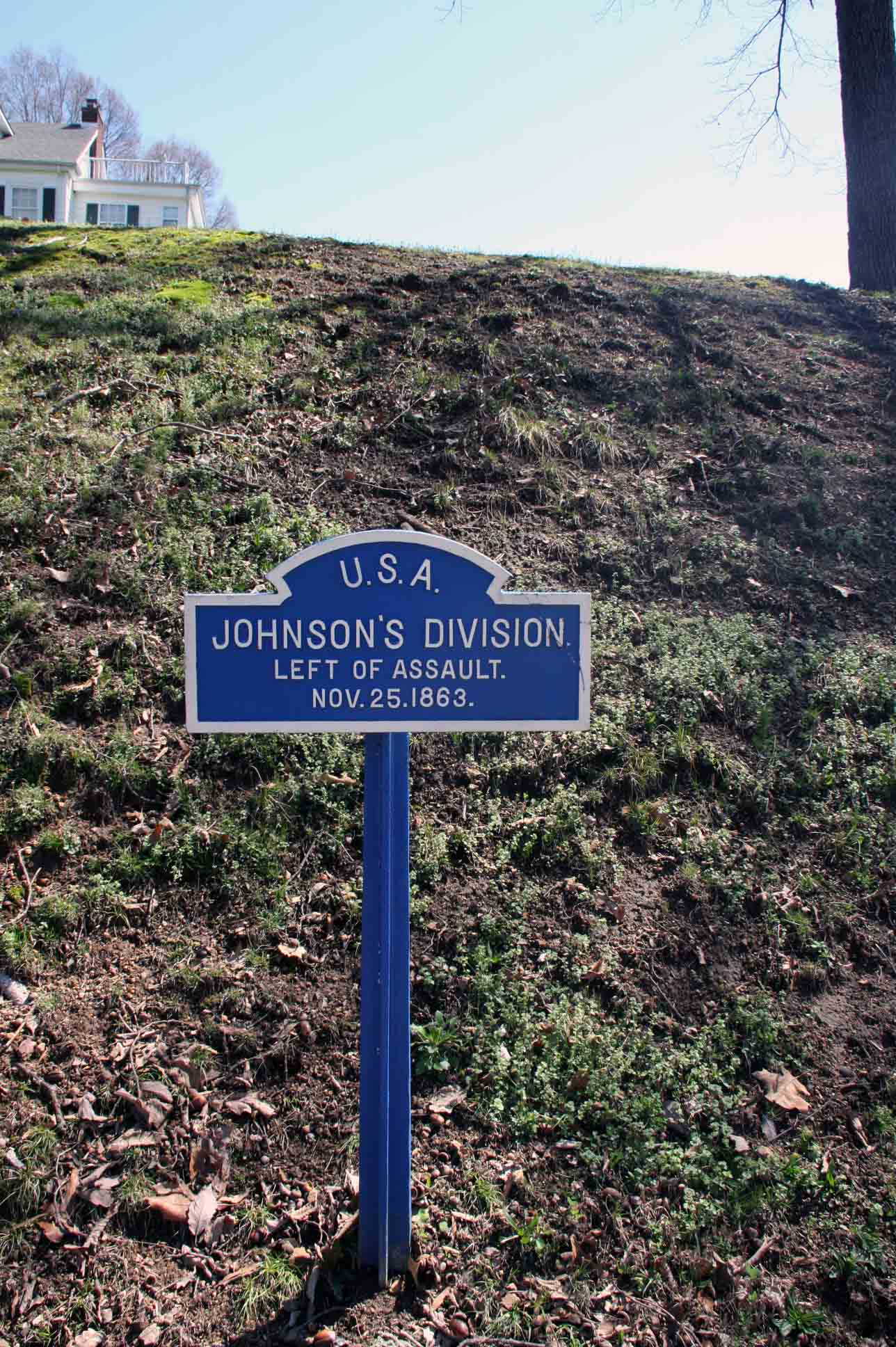 Johnson's Division Sign, click photo to enlarge.