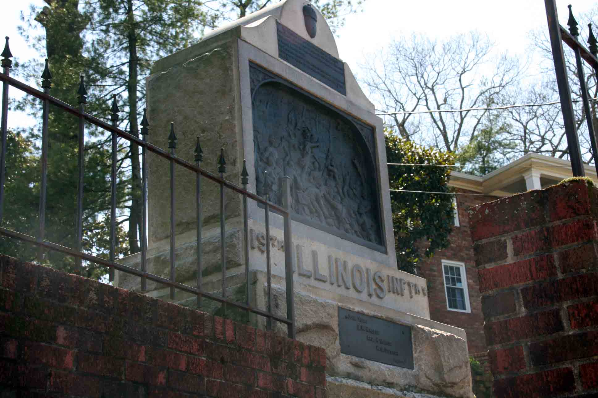 19th Illinois Infantry Monument, click photo to enlarge.