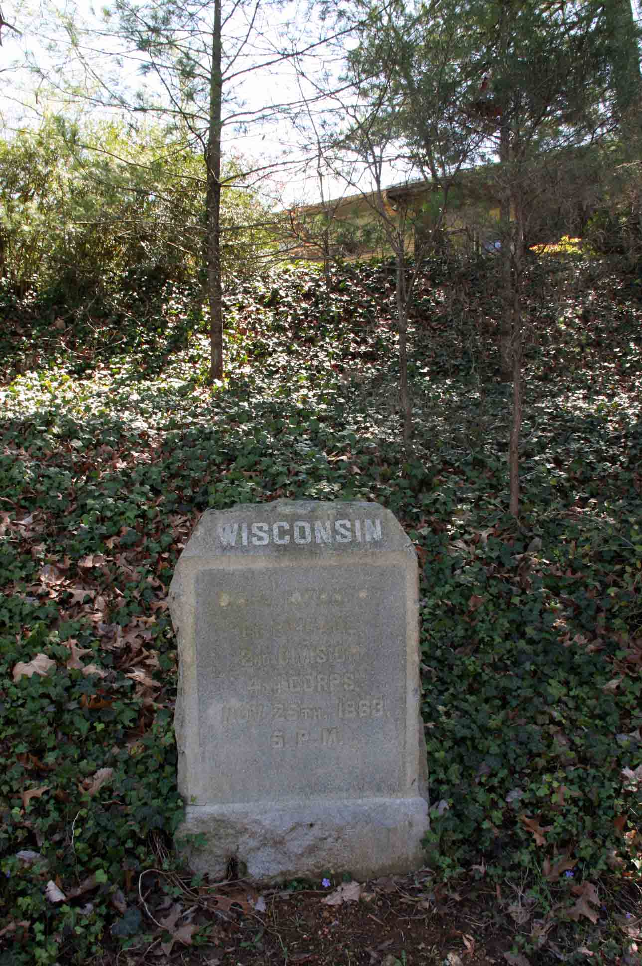 24th Wisconsin Infantry Regiment Marker, click photo to enlarge.