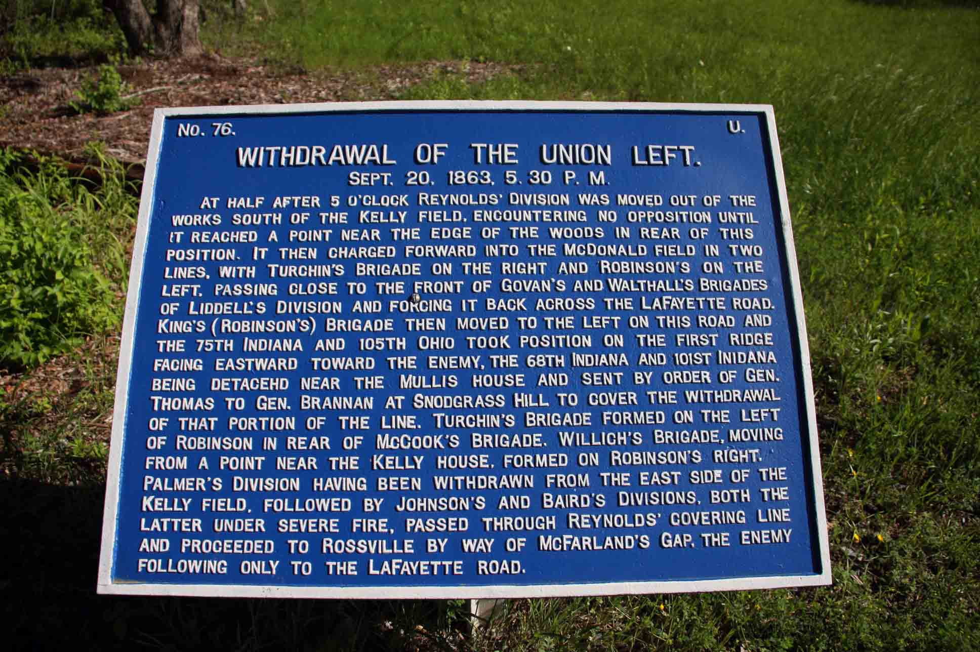 Withdrawal of the Union Left Plaque, click photo to enlarge.