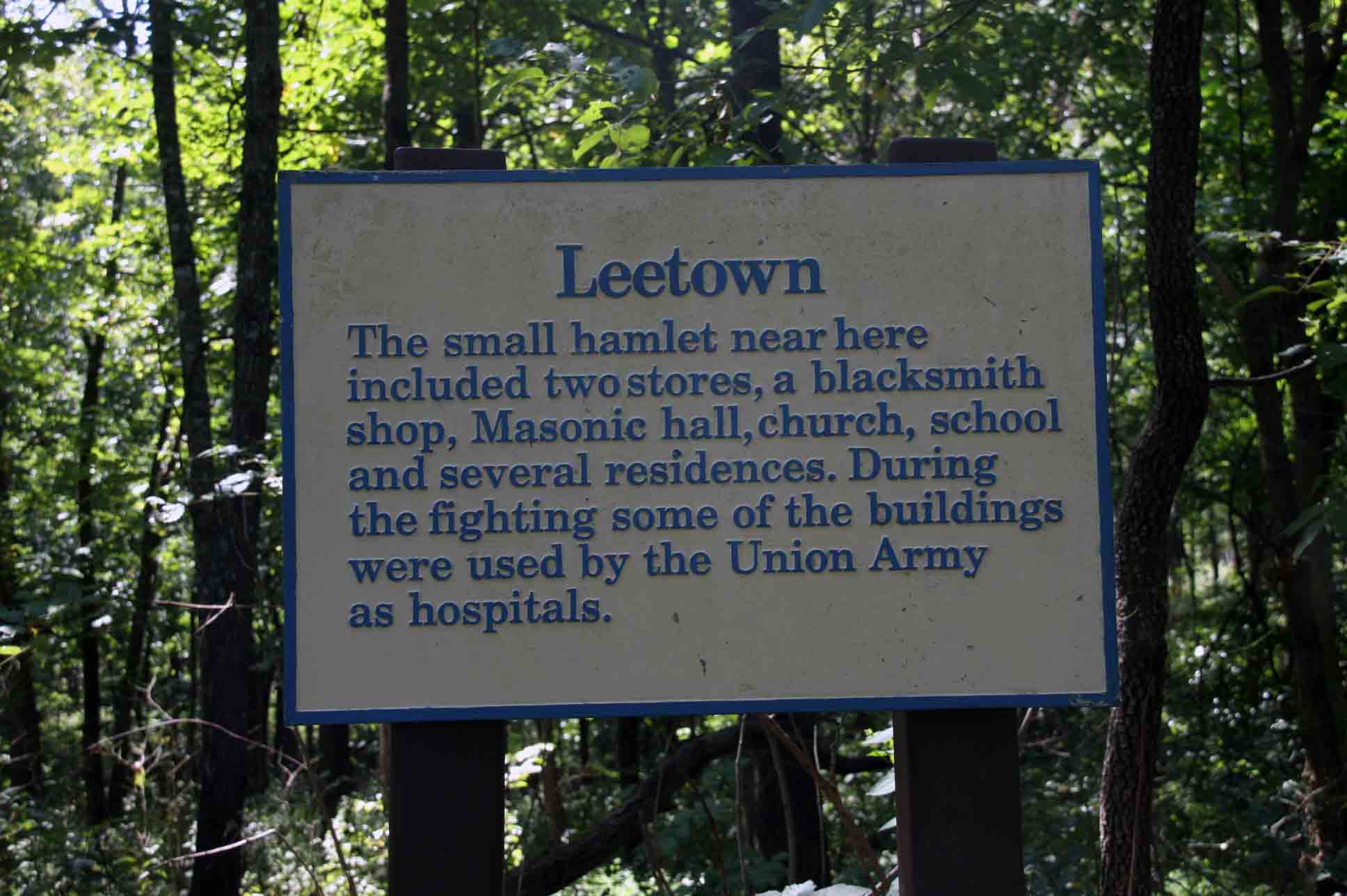 Leetown, click photo to enlarge.