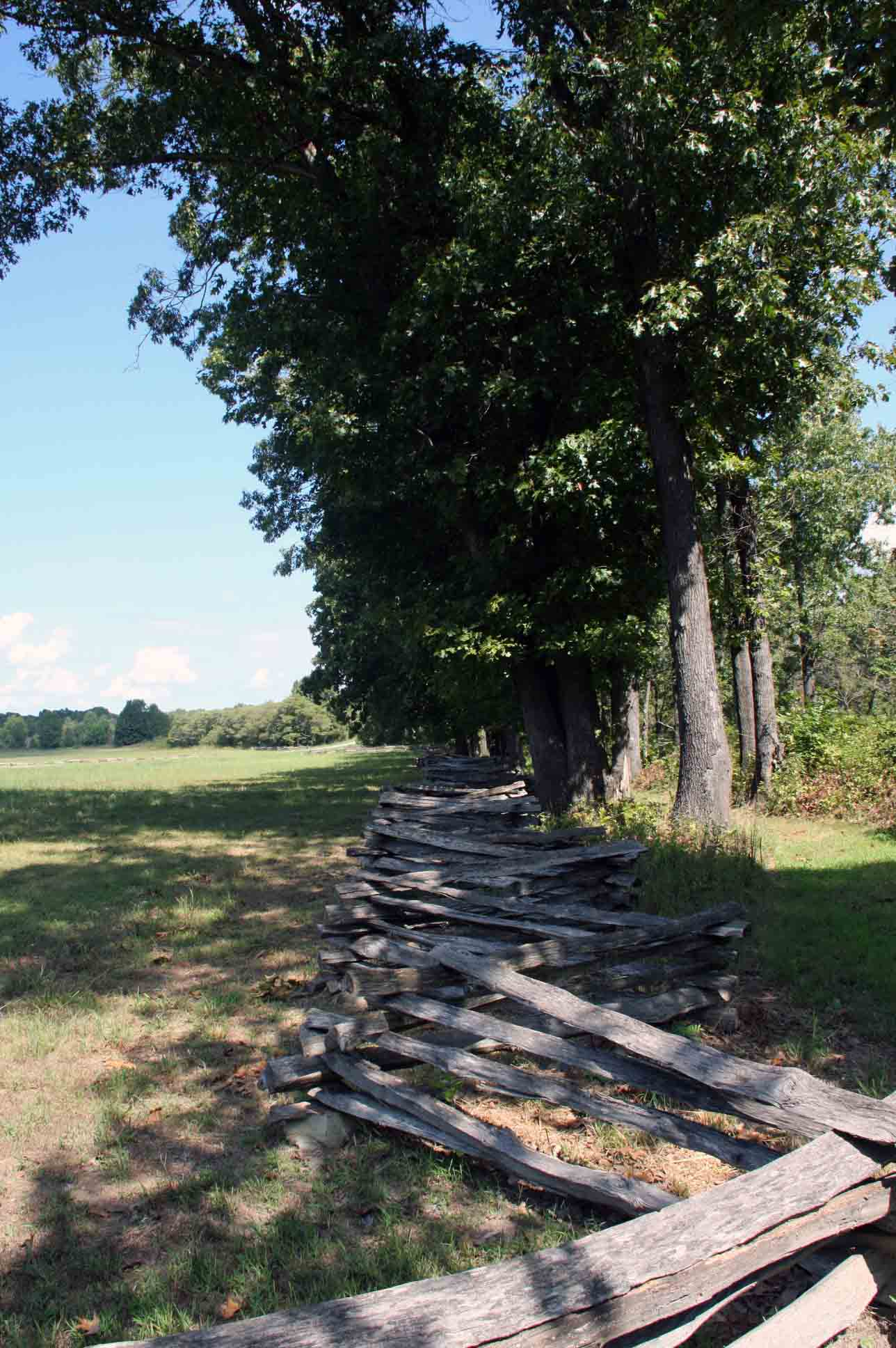 Split rail fence loacted at tour stop 4., click photo to enlarge.