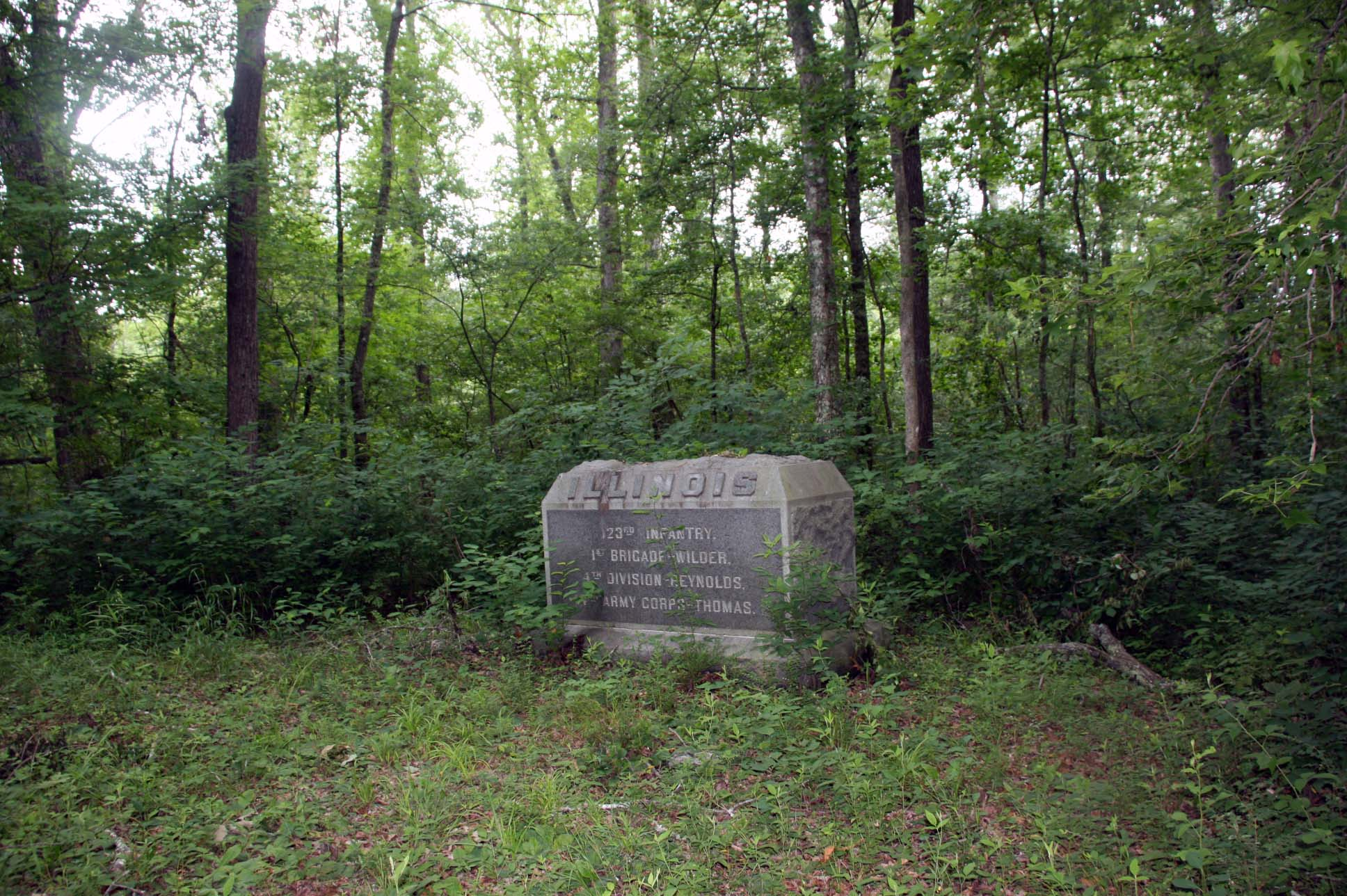 123rd Illinois Infantry Monument, click photo to enlarge.
