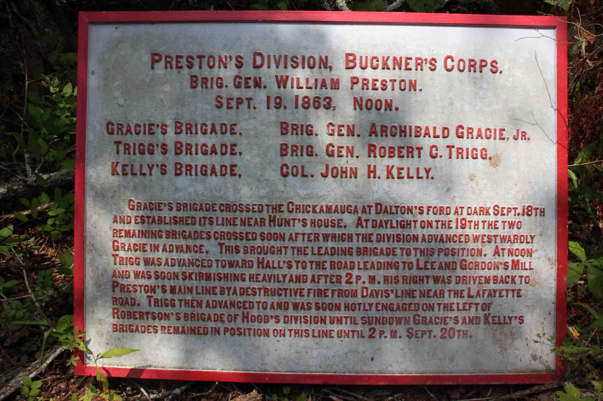 Preston's Division, Buckner's Corps, click photo to enlarge.