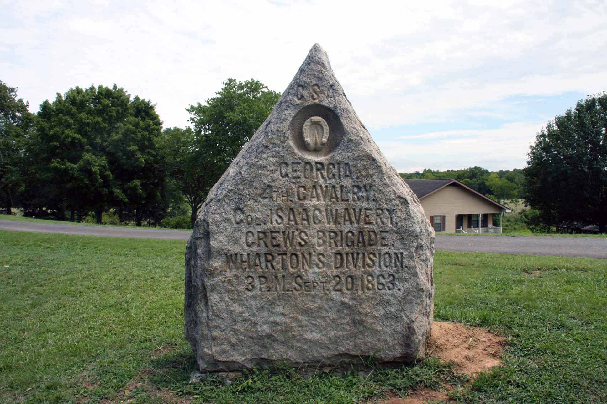 4th Georgia Cavalry Marker, click photo to enlarge.