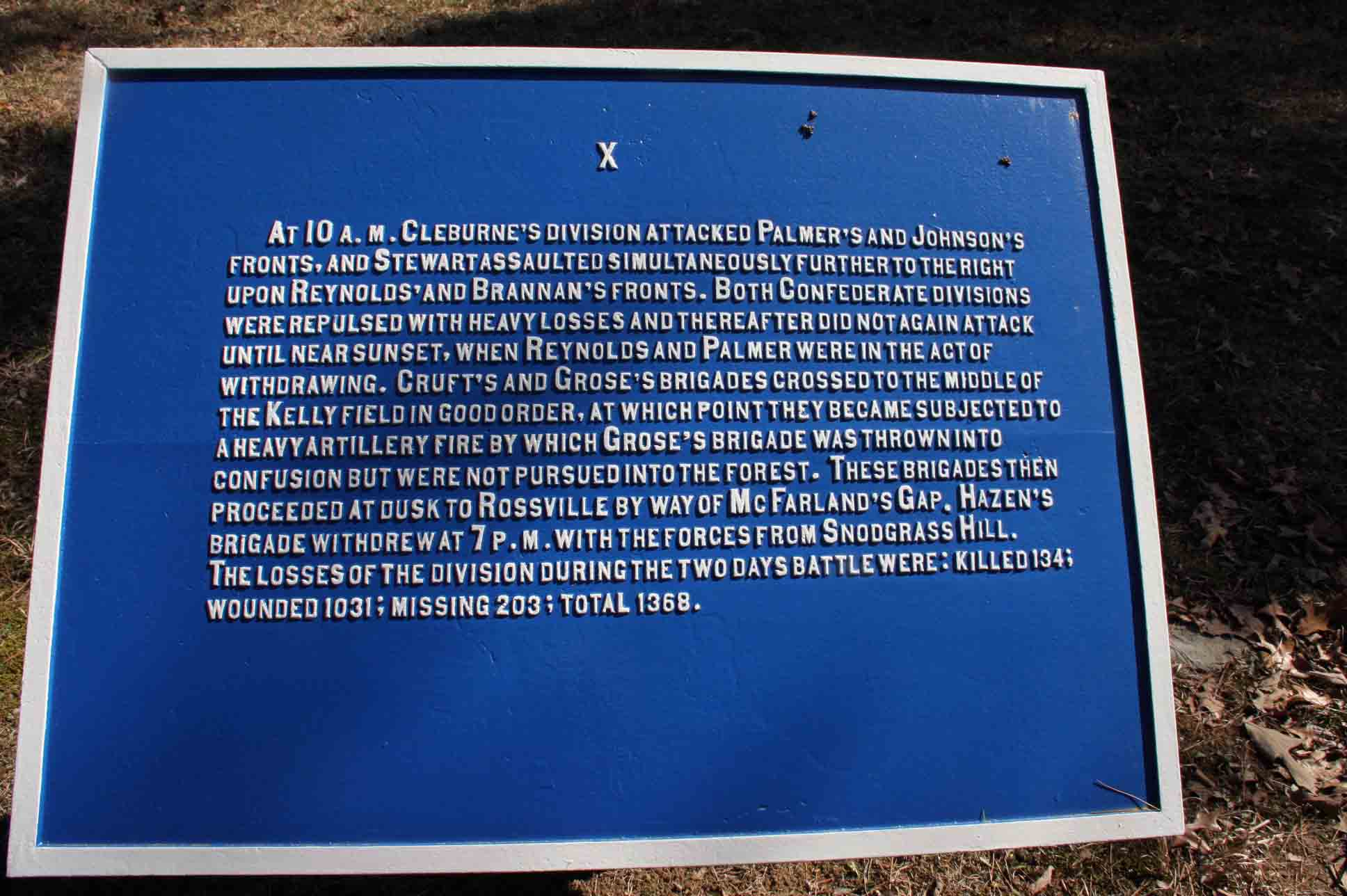 Palmer's Division Plaque, click photo to enlarge.