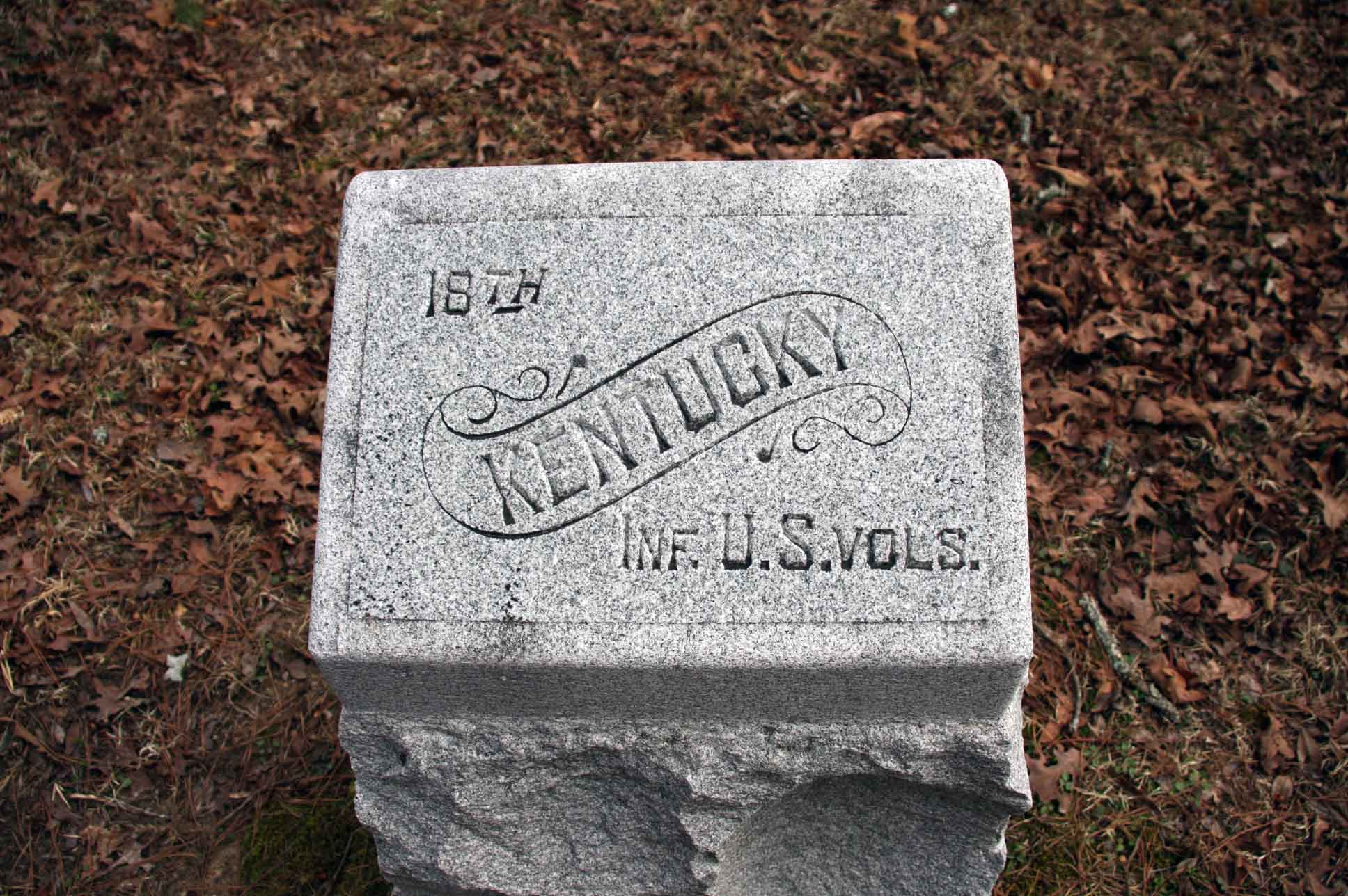 18th Kentucky (USA) Marker, click photo to enlarge.