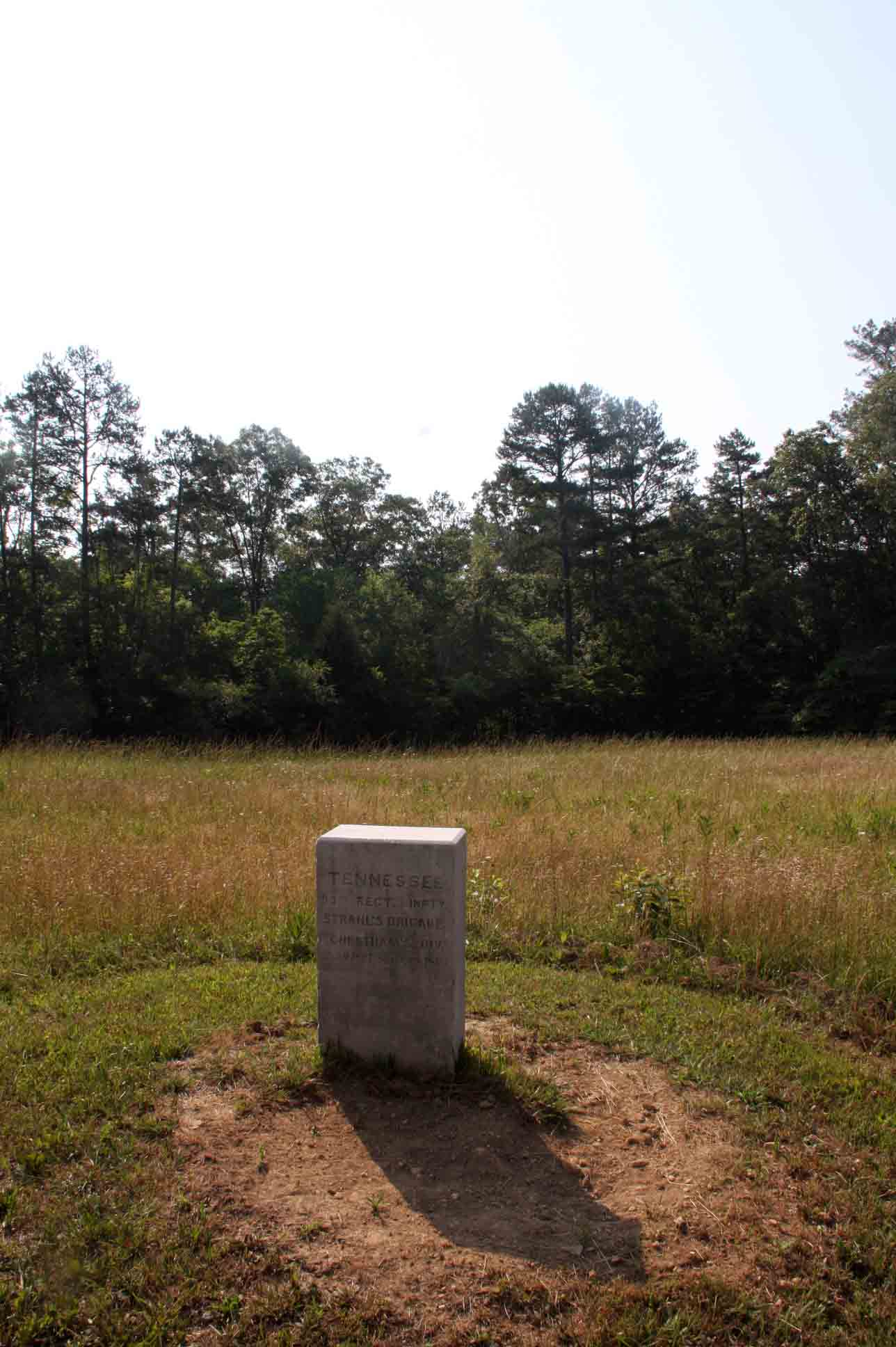33rd Tennessee Infantry Regiment Marker, click photo to enlarge.