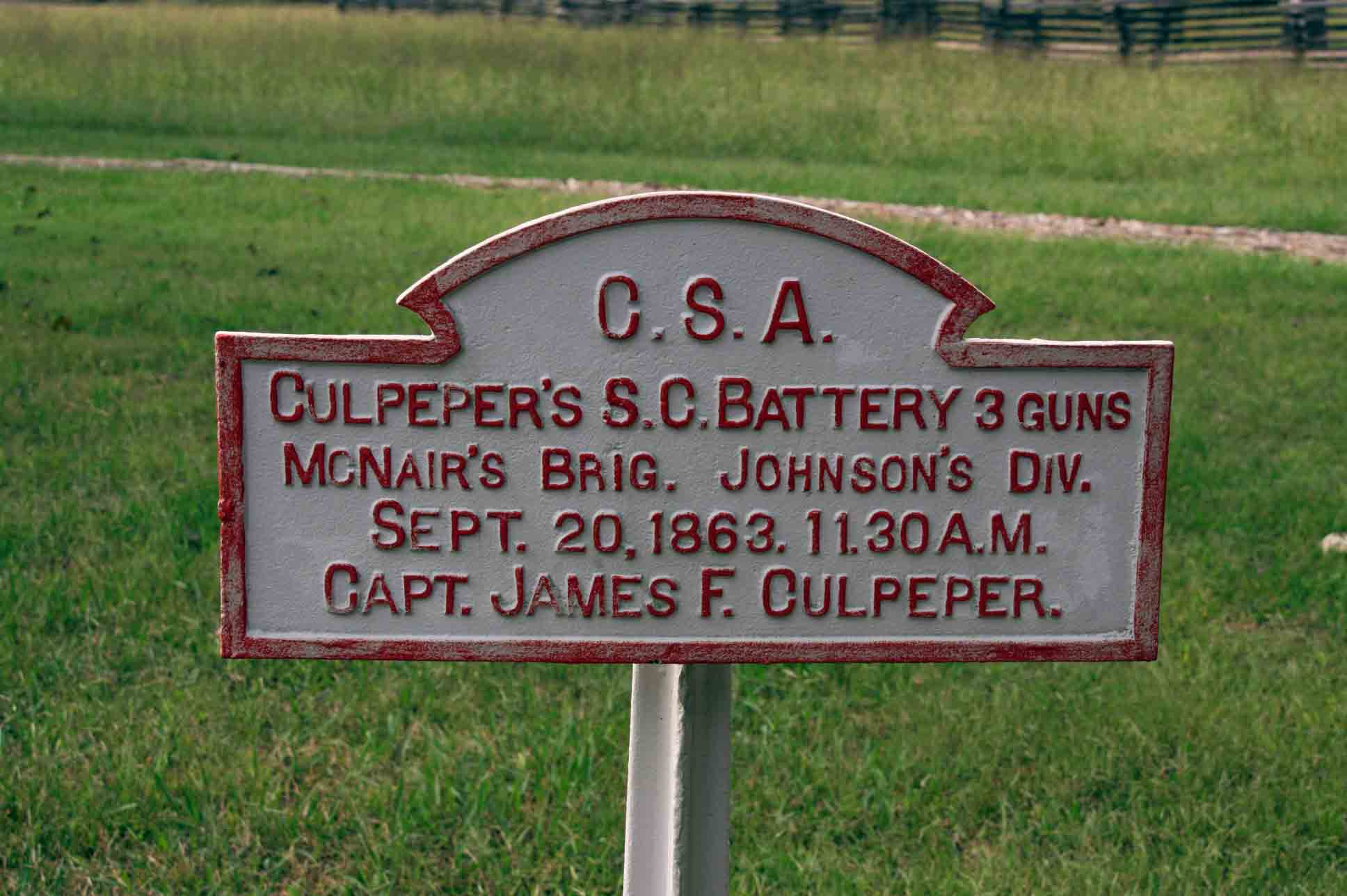 Culpeper's South Carolina Battery Tablet, click photo to enlarge.