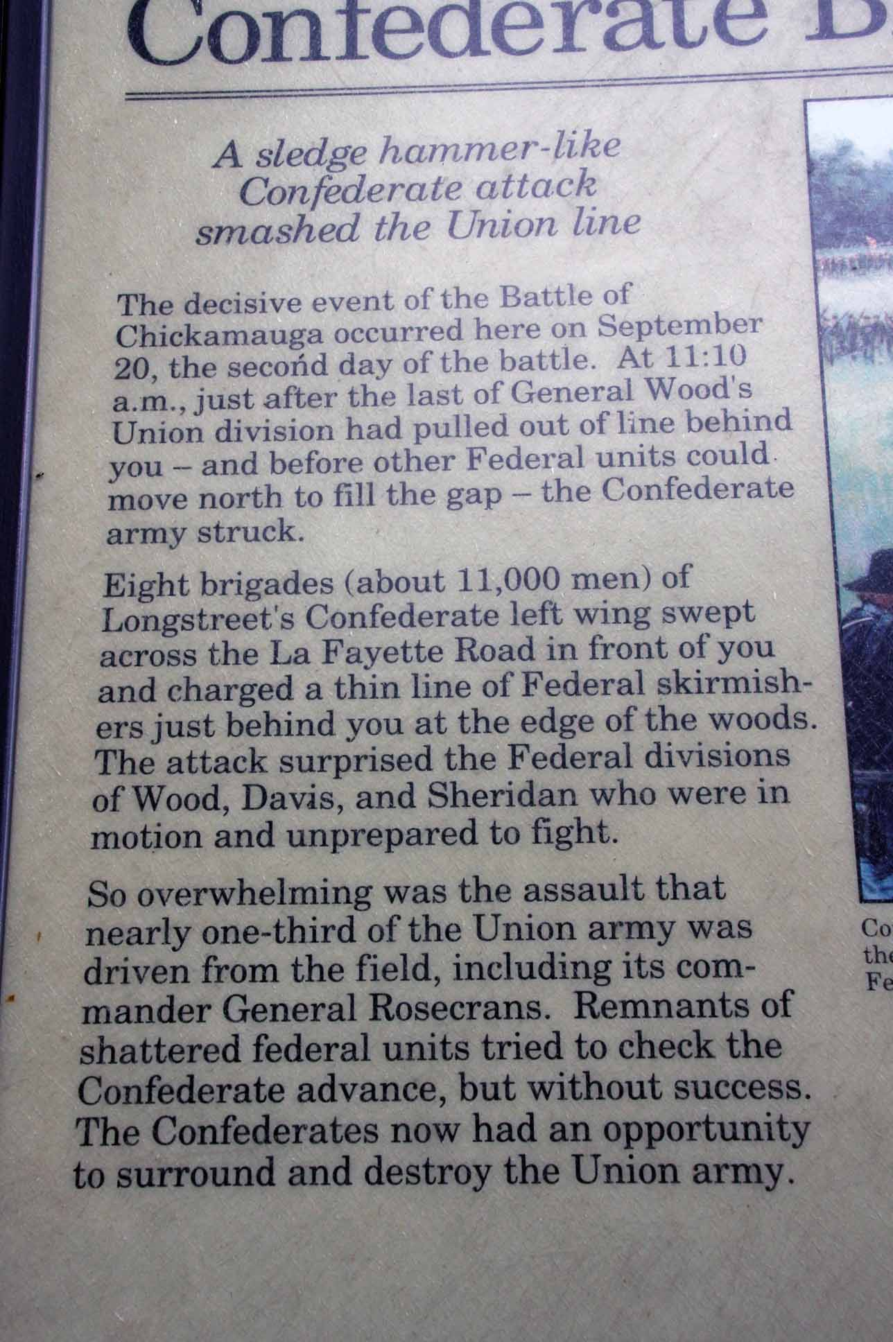 Confederate Breakthrough, click photo to enlarge.