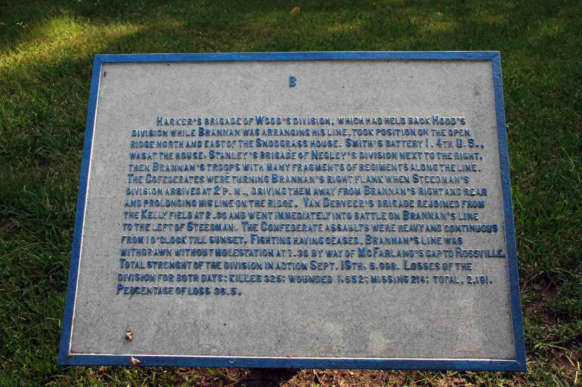 Brannan's Division Tablet, click photo to enlarge.