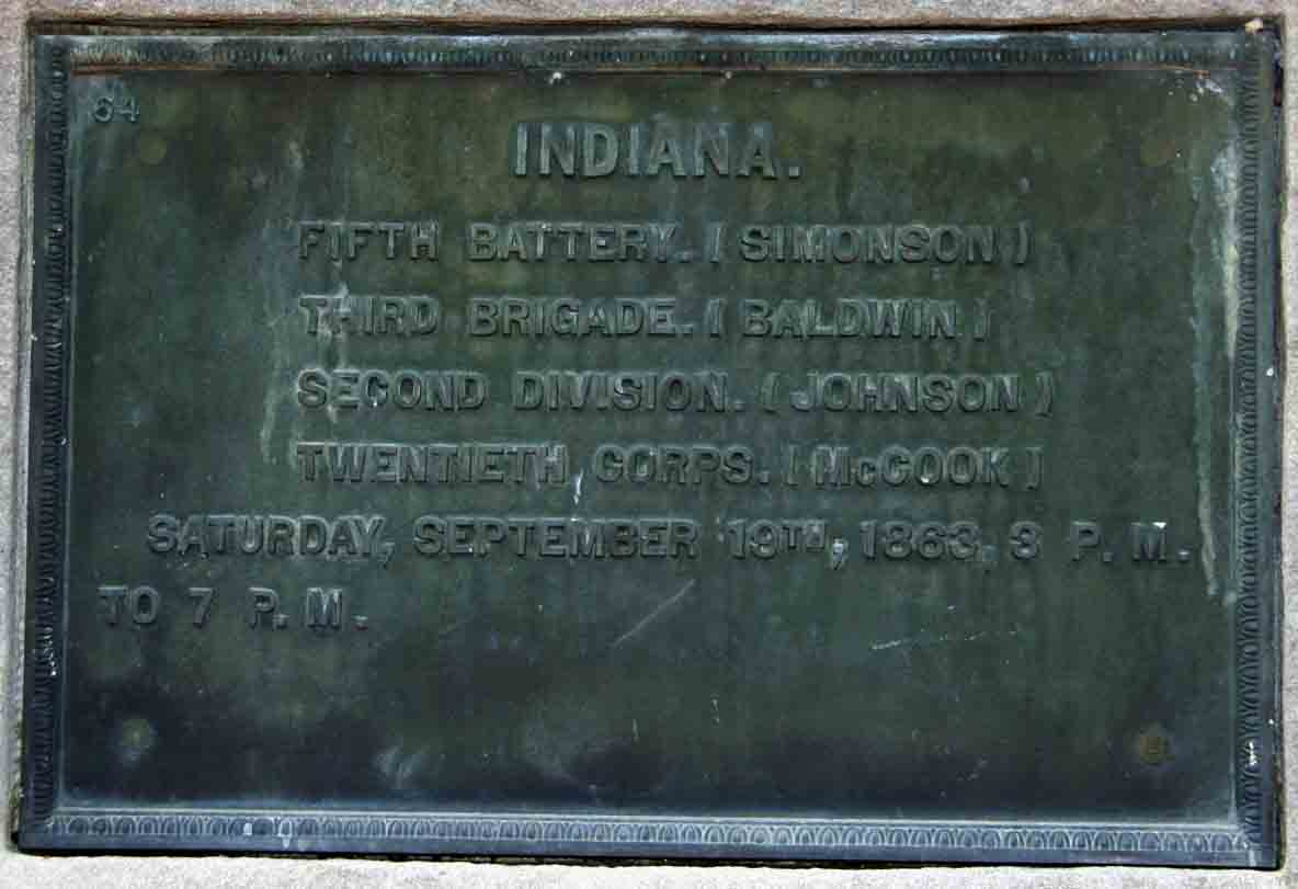 5th Indiana Battery Marker, click photo to enlarge.