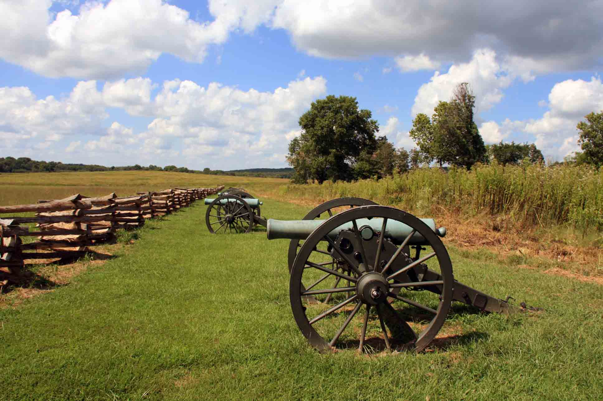 Cannon's on the Pea Ridge Battlefield, click photo to enlarge.