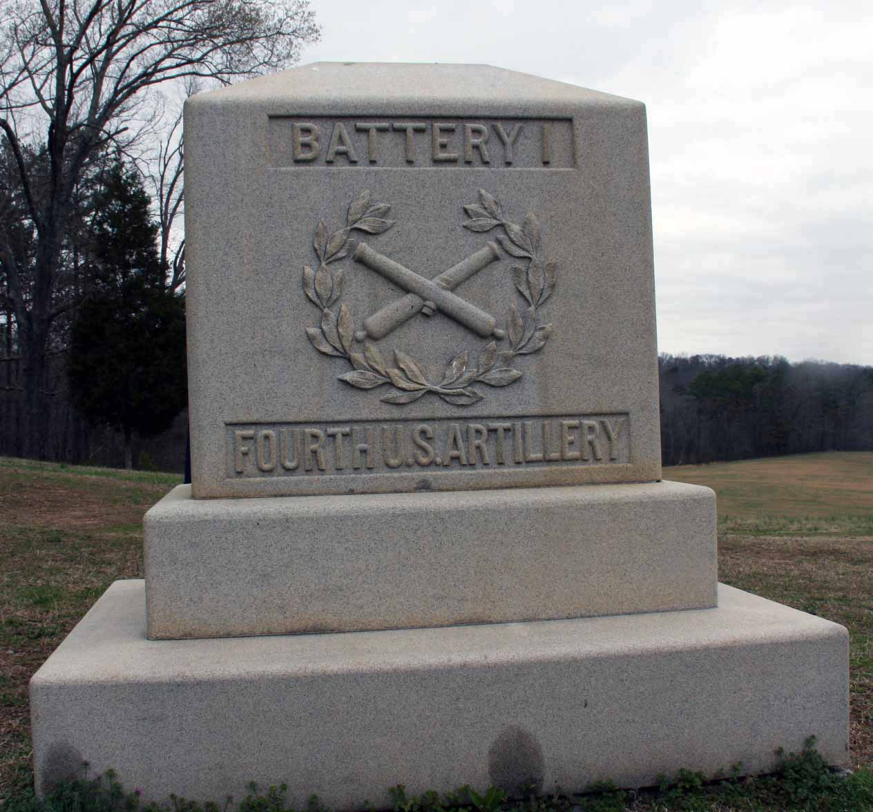 4th U.S. Artillery, Battery I, Monument, click photo to enlarge.