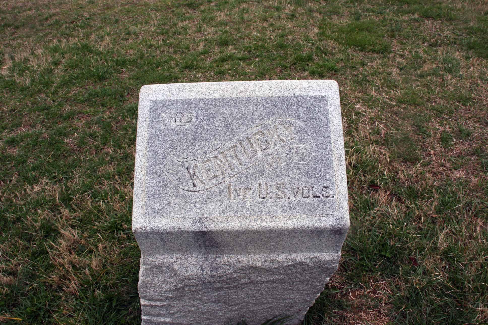 3rd Kentucky Infantry Regiment (US Volunteers) Marker, click photo to enlarge.