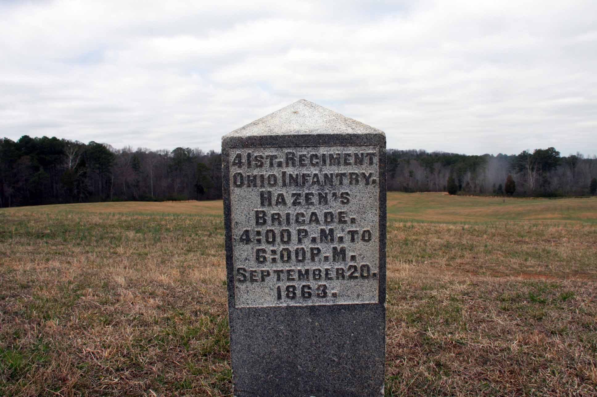 41st Ohio Infantry Regiment Marker, click photo to enlarge.