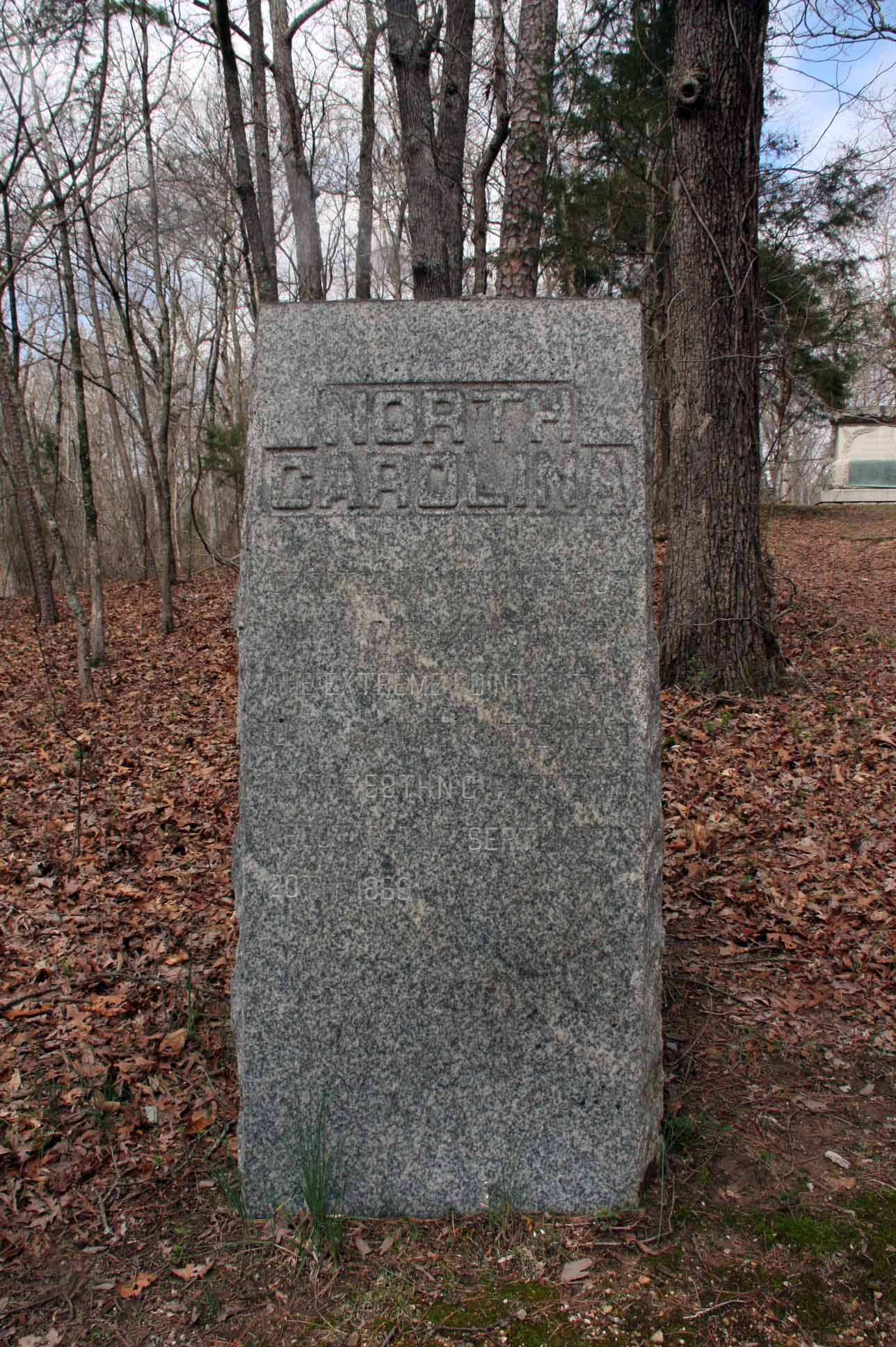 58th North Carolina Infantry Regiment Marker, click photo to enlarge.