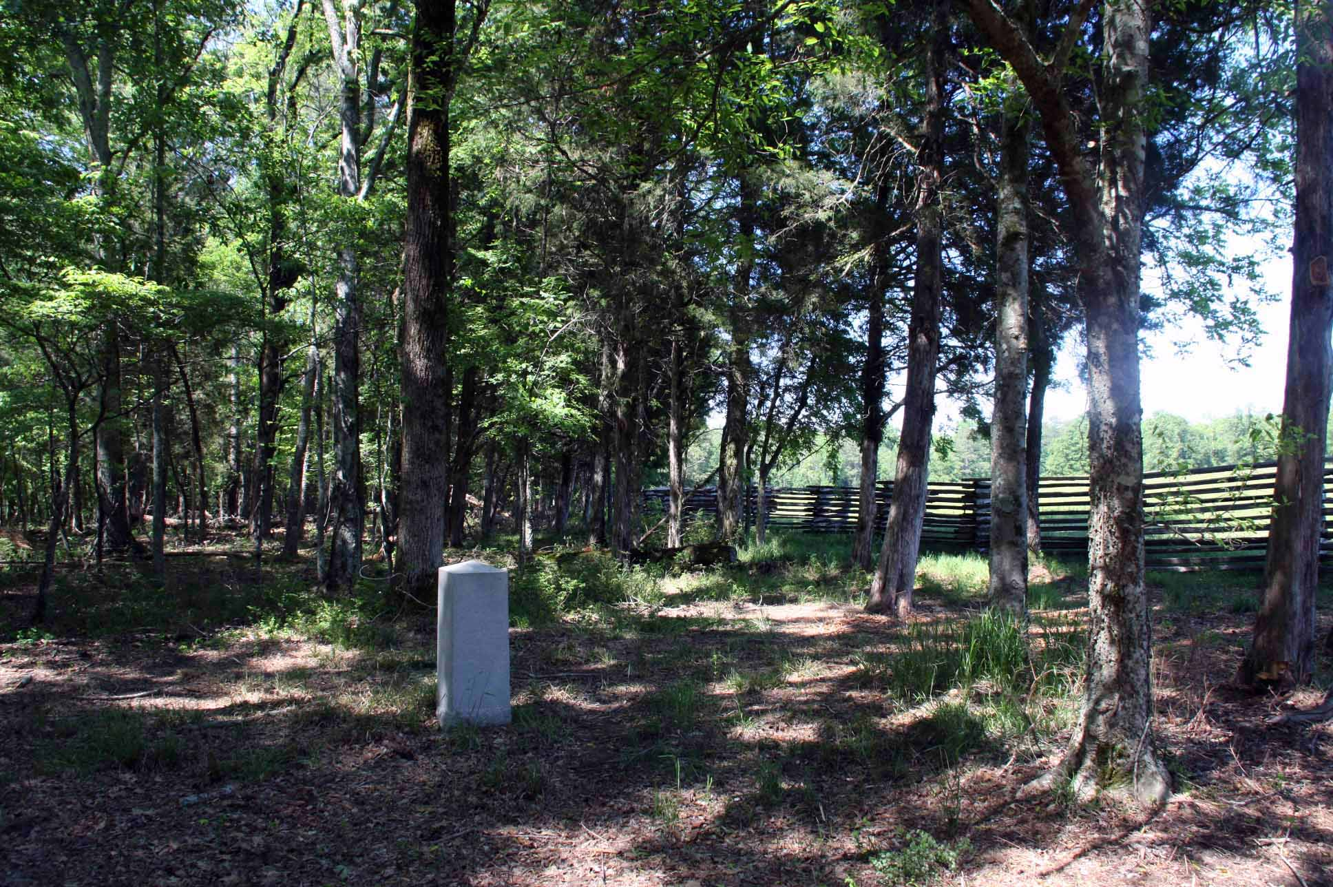 8th Kansas Volunteer Infantry Marker, click photo to enlarge.