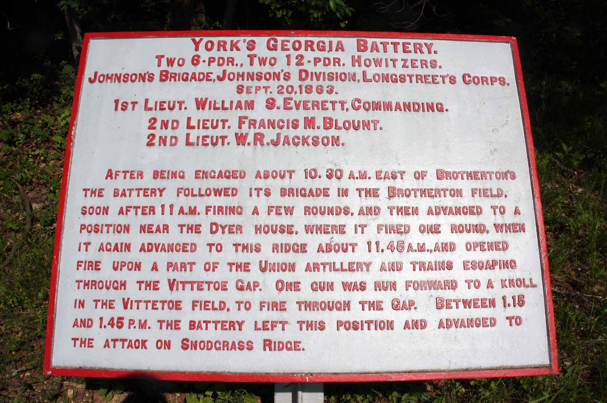 York's Georgia Battery Tablet, click photo to enlarge.