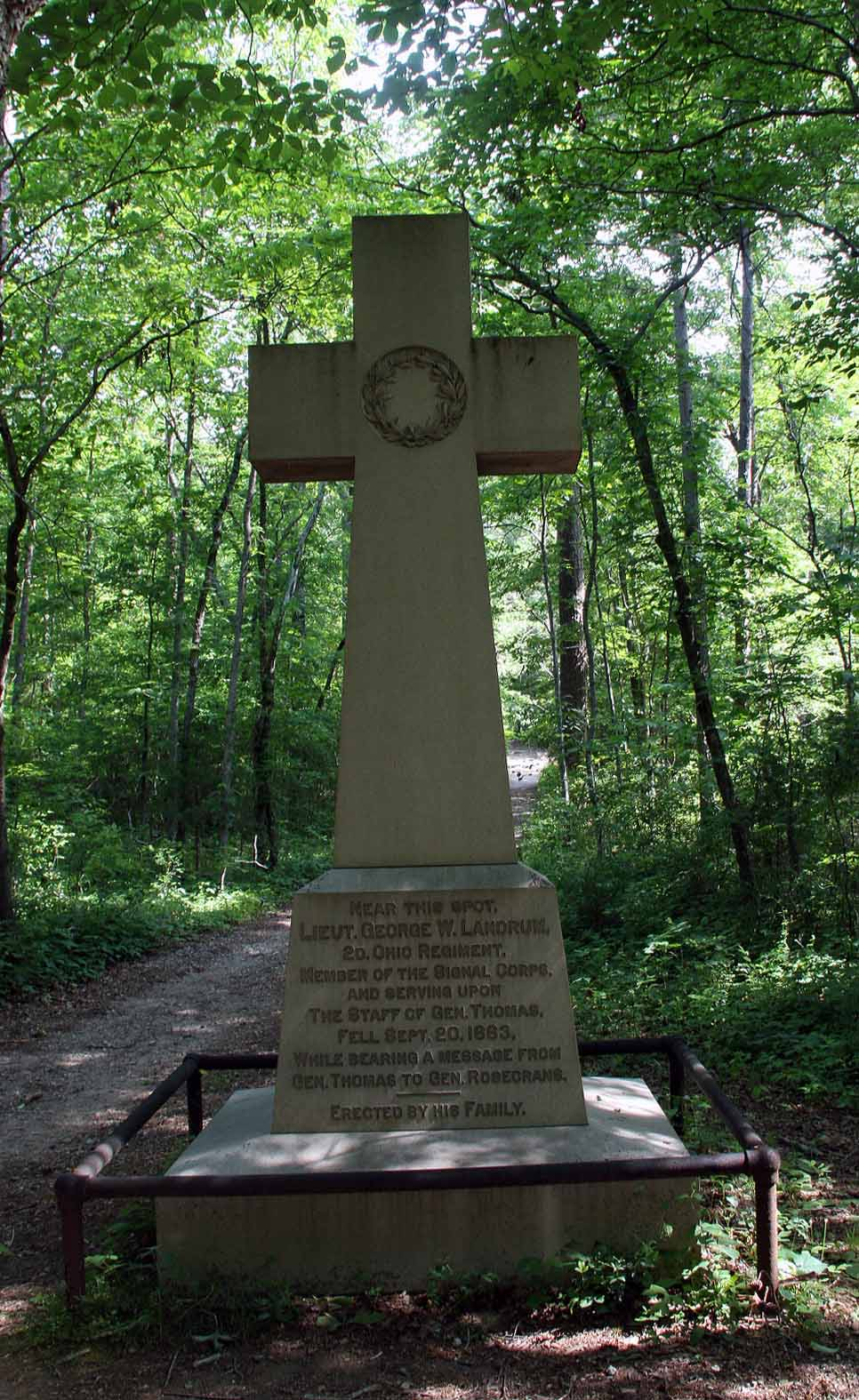 George W. Landrum Memorial Monument, click photo to enlarge.
