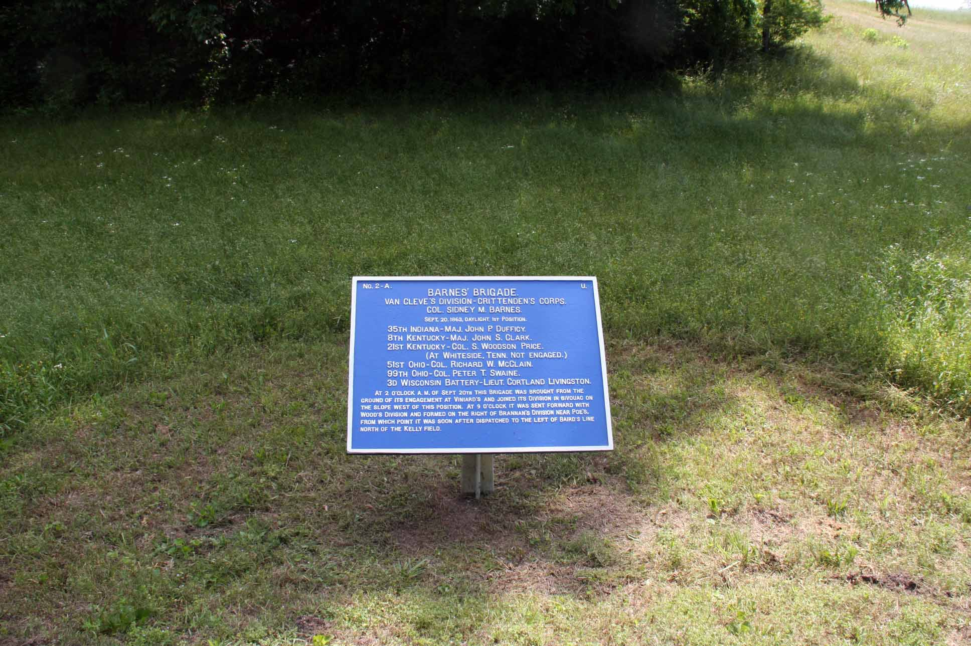 Barnes' Brigade Tablet, click photo to enlarge.