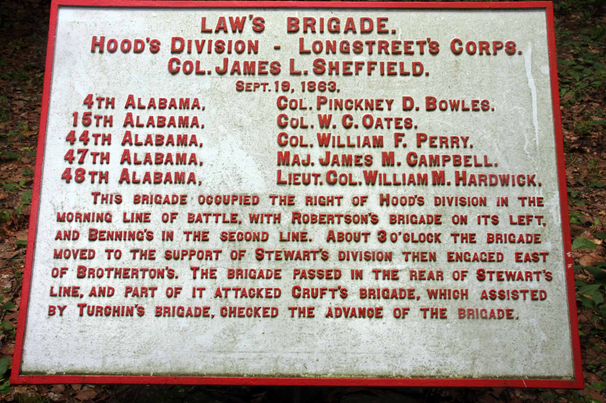Law's Brigade Tablet, click photo to enlarge.