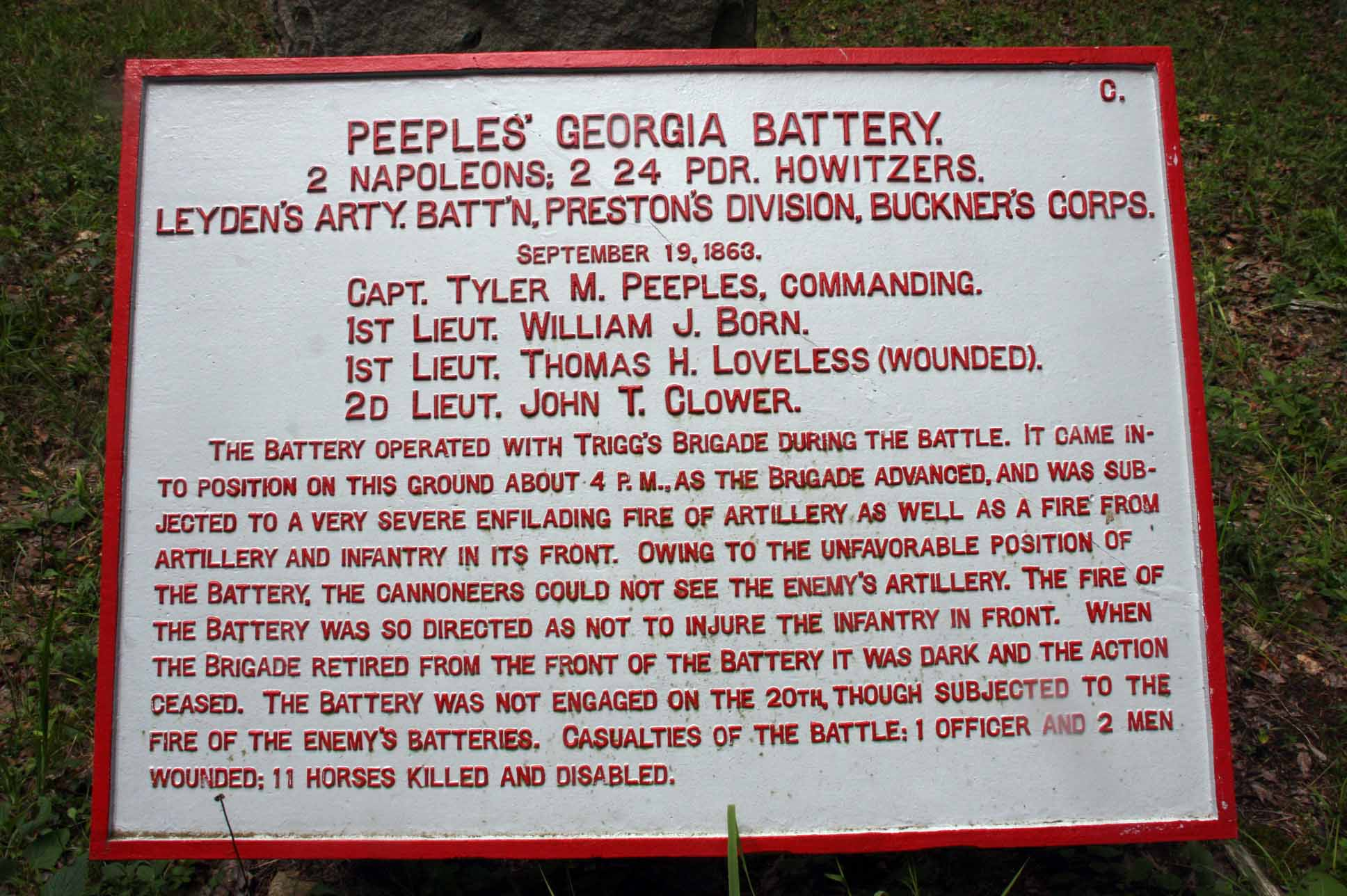 Peeples' Georgia Battery Tablet, click photo to enlarge.