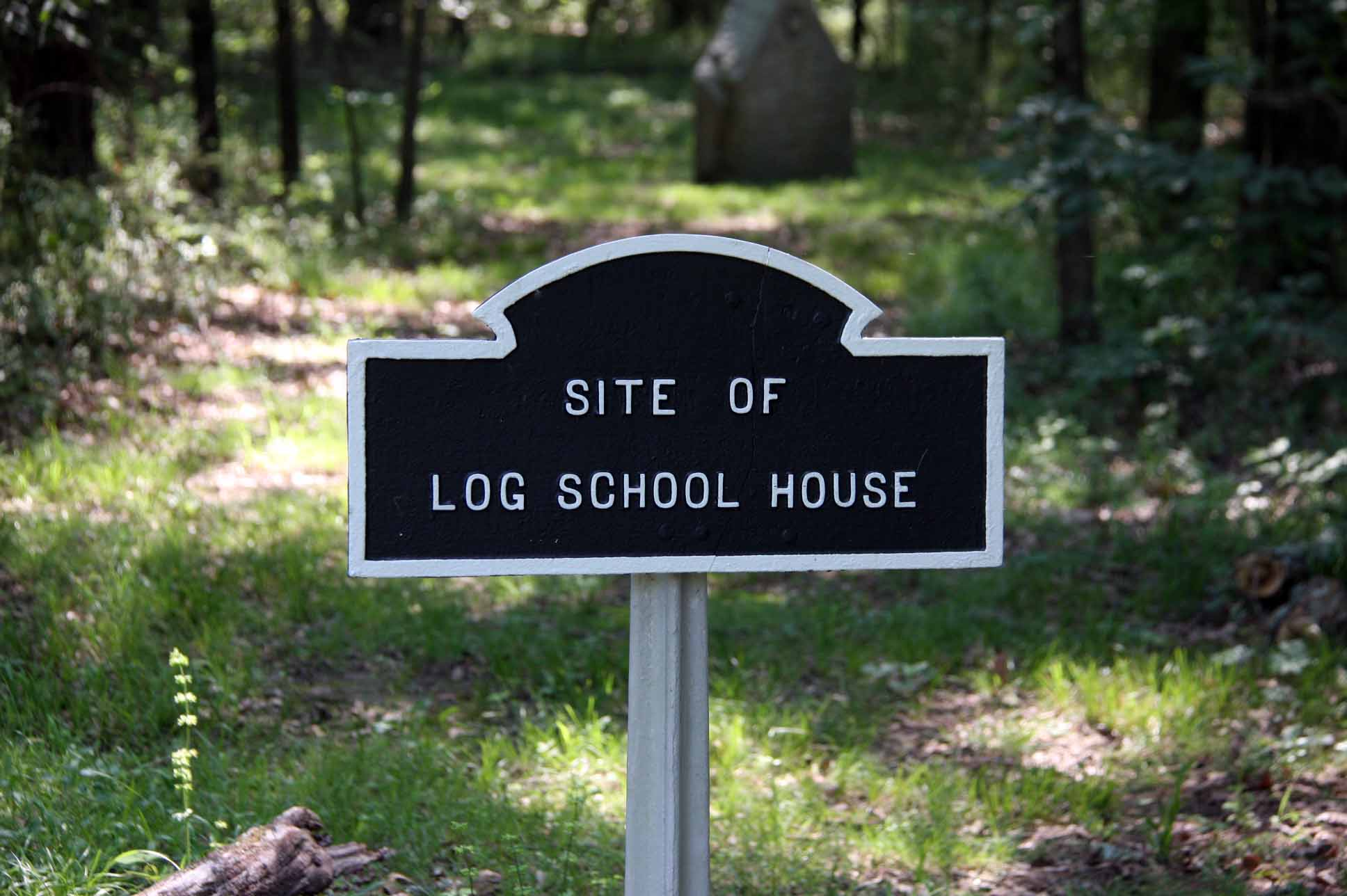 Site of Log School House, click photo to enlarge.