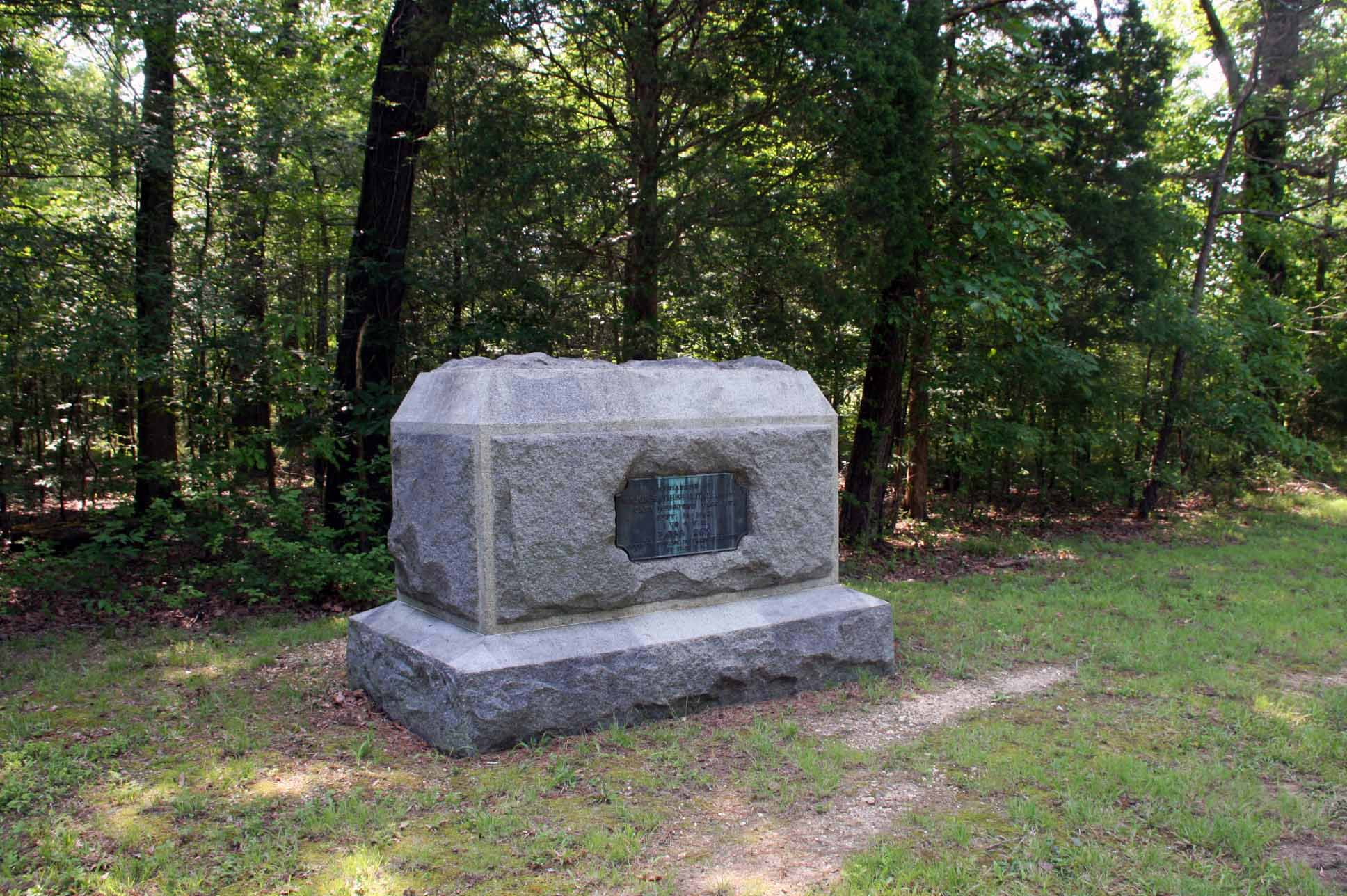 25th Illinois Infantry Regiment Monument, click photo to enlarge.