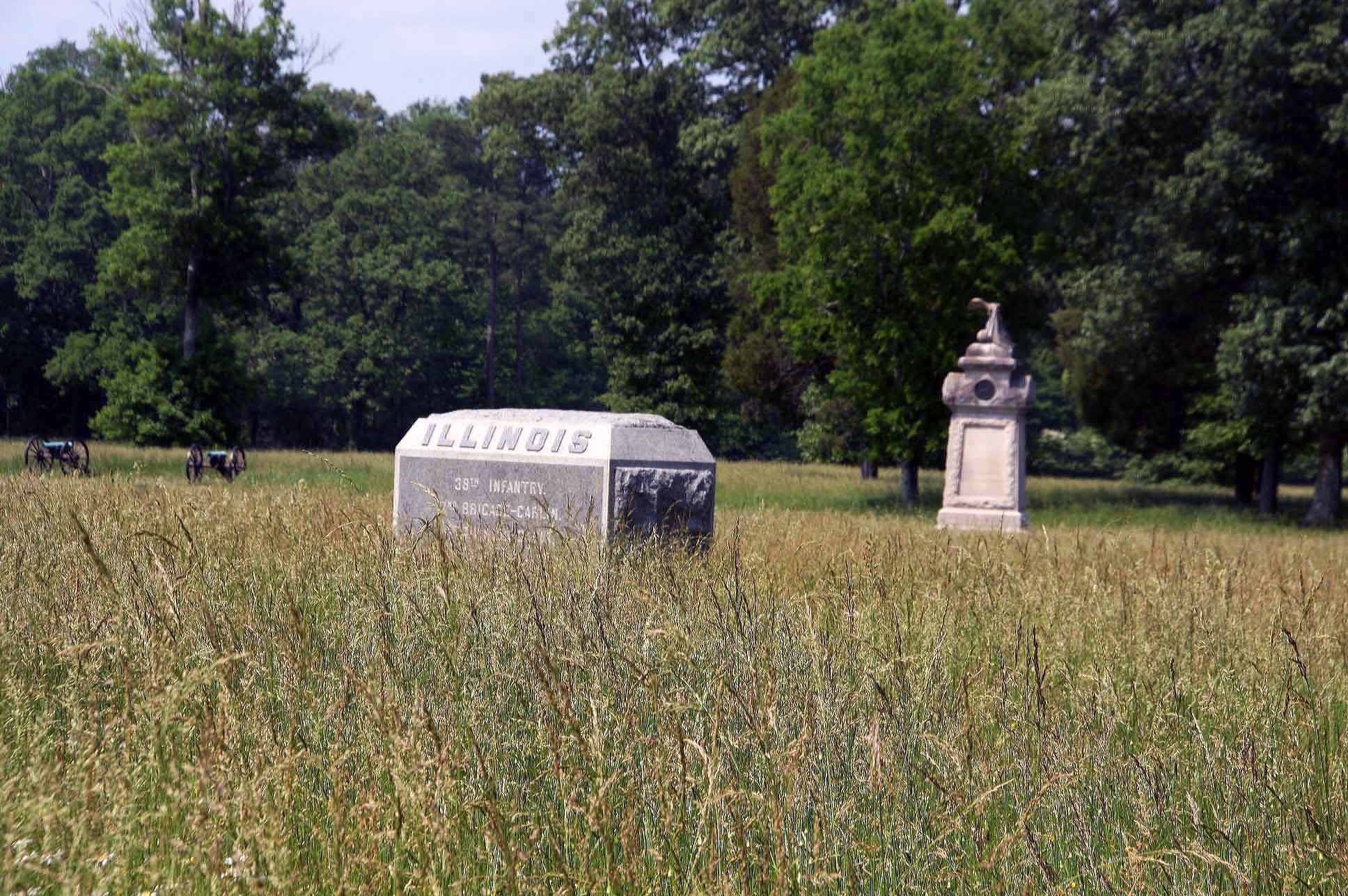 38th Illinois Infantry Regiment Monument, click photo to enlarge.