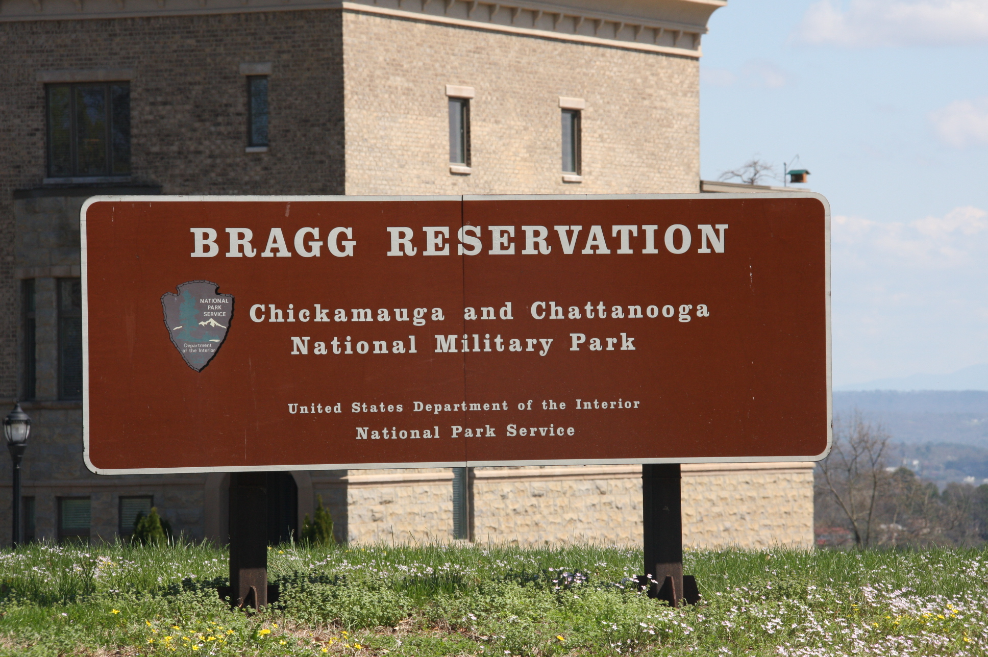 Bragg's Reservation entrance sign, click photo to enlarge.