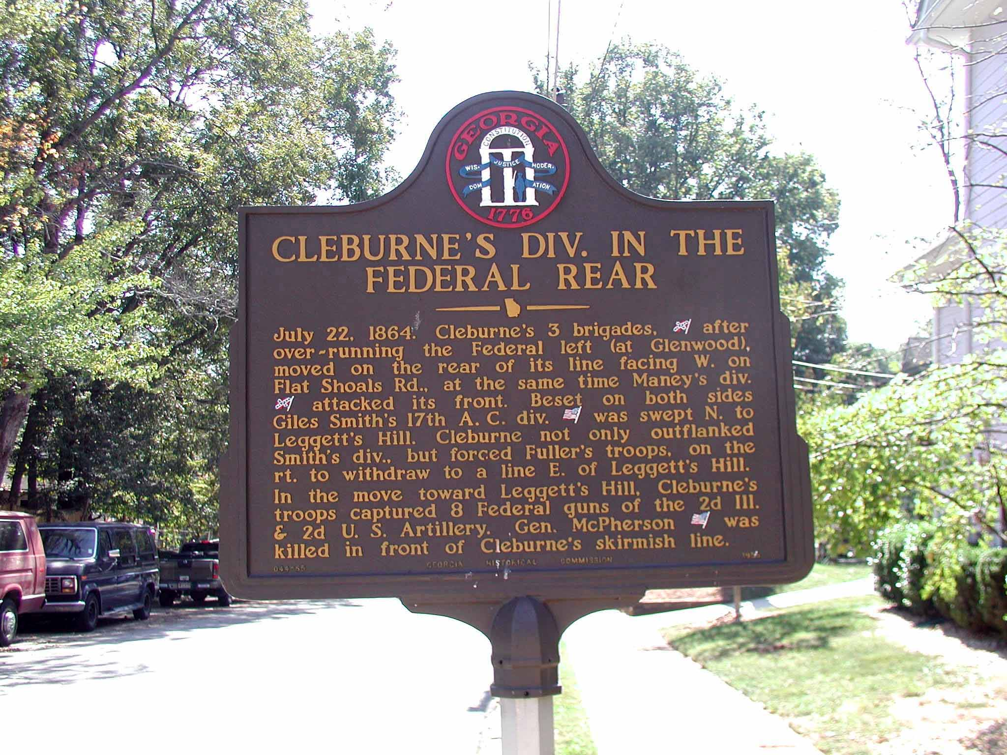 Cleburne's Division in the Federal Rear, click photo to enlarge.