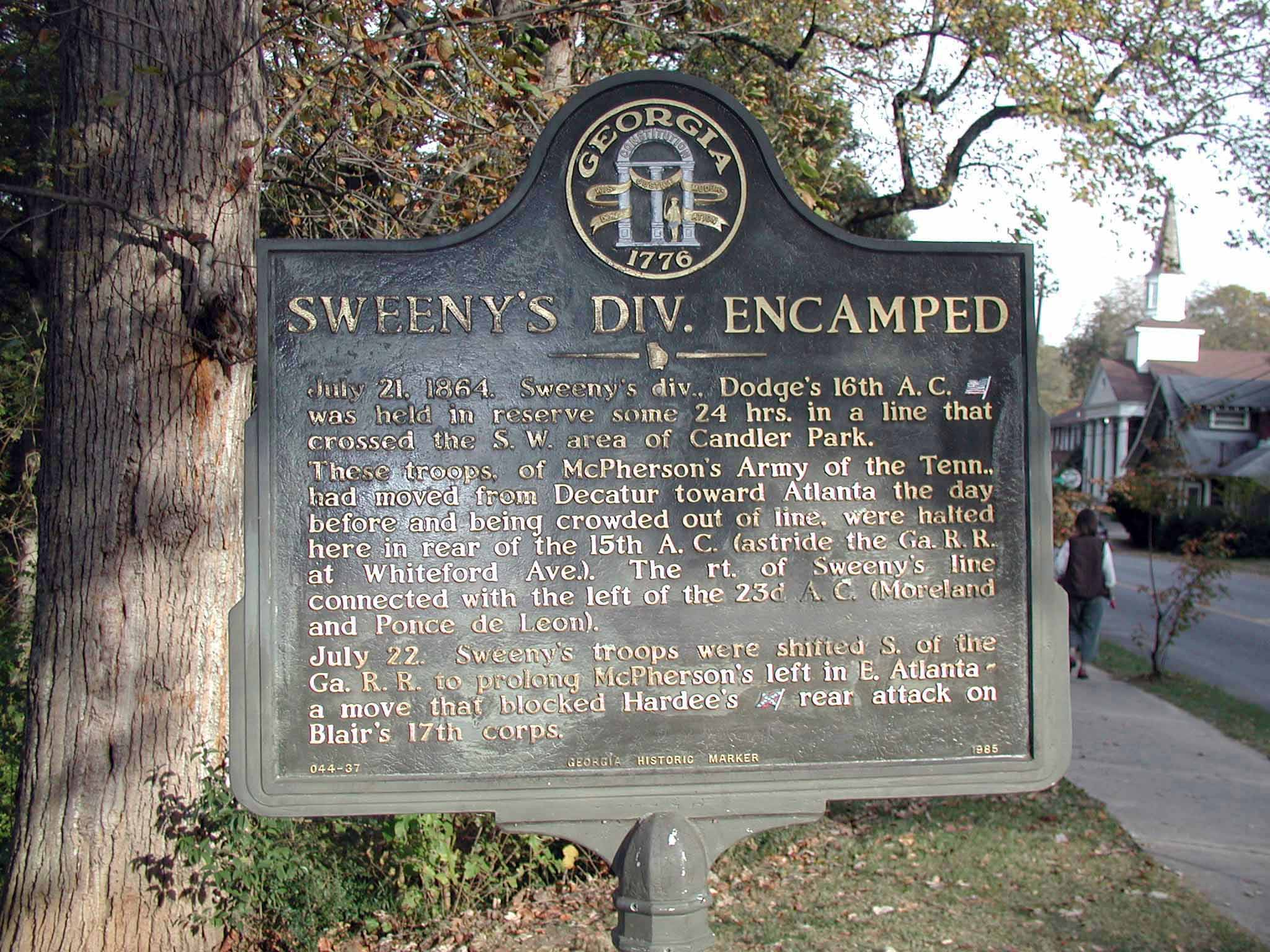 Sweeny's Division Encamped, click photo to enlarge.