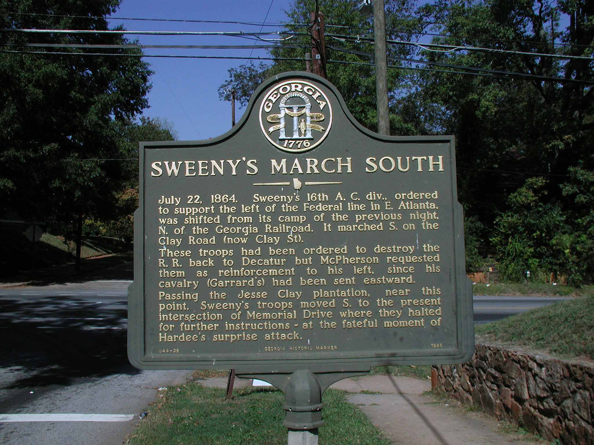 Sweeny's March South, click photo to enlarge.